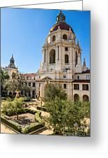 The Courtyard - Beautiful Pasadena City Hall. Greeting Card