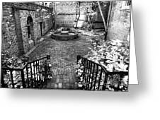 The Courtyard At The Old North Church Greeting Card