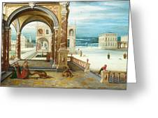 The Courtyard Of A Renaissance Palace Greeting Card