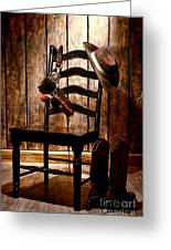 The Cowboy Chair Greeting Card