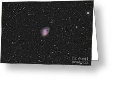 The Crab Nebula, A Supernova Remnant Greeting Card