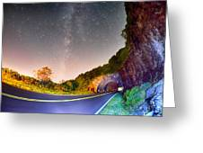 The Craggy Pinnacle Tunnel On The Blue Ridge Parkway  Greeting Card