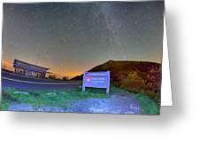 The Craggy Pinnacle Visitors Center At Night Greeting Card
