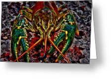 The Crawdad Digital Art Greeting Card