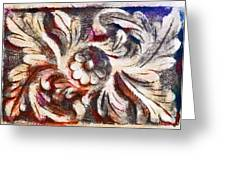 The Crayoned Leaves  Greeting Card