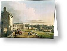 The Crescent, From Bath Illustrated Greeting Card by John Claude Nattes