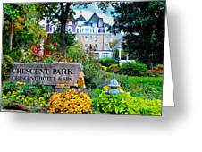 The Crescent Hotel In Eureka Springs Arkansas Greeting Card by Gregory Ballos