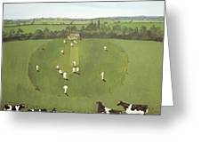 The Cricket Match Greeting Card