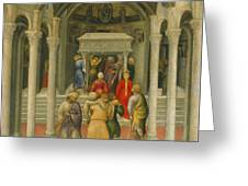 The Crippled And Sick Cured At The Tomb Of Saint Nicholas Greeting Card by Gentile da Fabriano