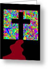 The Cross In Fauvism Greeting Card