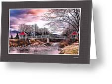 The Crossing II Brenton Woods Nh Greeting Card