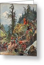 The Crossing Of The Alps, Illustration Greeting Card