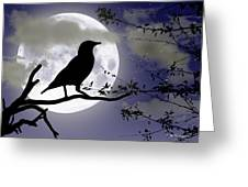 The Crow And Moon Greeting Card