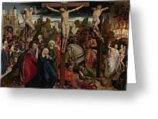 The Crucifixion Dreux Budé Master, Possibly André Dypres Greeting Card