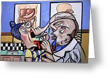 The Cubist Doctor Md Greeting Card