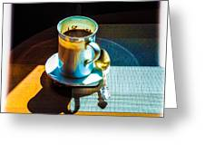 The Cup Of Black Coffee 1 Greeting Card