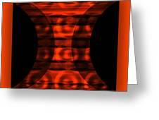 The Curtain - Orange  Greeting Card