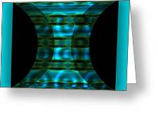 The Curtain - Turquoise Greeting Card