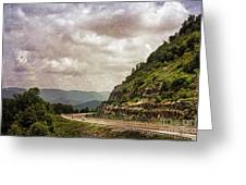 The Curve Blue Ridge Parkway Greeting Card