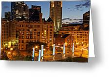 The Custom House of Boston Greeting Card by Juergen Roth