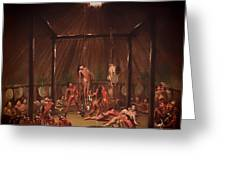 The Cutting Scene Mandan O-kee-pa Greeting Card