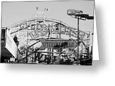 The Cyclone In Black And White Greeting Card
