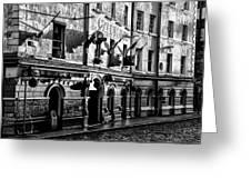 The Czech Inn - Dublin Ireland In Black And White Greeting Card