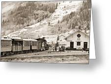 The D And S Pulls Into The Station Greeting Card