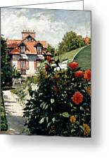 The Dahlias Garden At Petit Gennevilliers Greeting Card