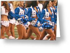 The Dallas Cowboys Cheerleaders Greeting Card by Donna Wilson