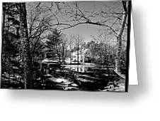 The Dam At Chocorua In Winter Greeting Card