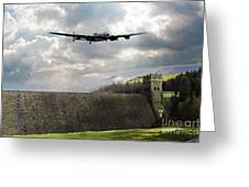 The Dambusters Over The Derwent Greeting Card