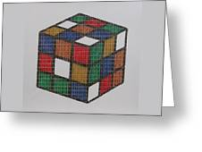 The Dammed Cube Greeting Card