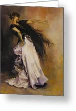 The Dancer Greeting Card by Diane Kraudelt