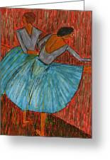 The Dancers Greeting Card by John Giardina