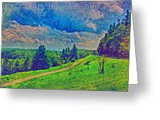 The Dark Hills Greeting Card by Michelle Greene Wheeler