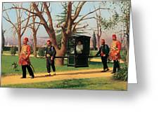 The Daughter Of The English Ambassador Riding In A Palanquin Greeting Card