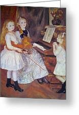 The Daughters Of Catulle Mendes Greeting Card by Pierre Auguste Renoir