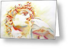 The David By Michelangelo. Tribute Greeting Card