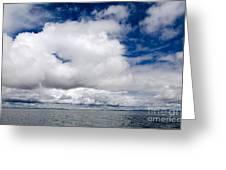 Cloudscape Over Lake Titicaca Peru Greeting Card