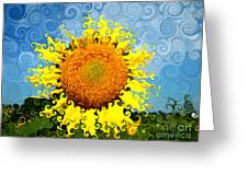 The Day Of The Sunflower Greeting Card by Lorraine Heath