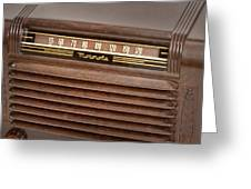The Days Of Radio Greeting Card