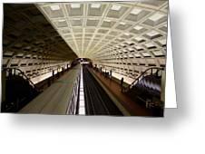 The D.c. Metro Greeting Card