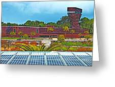 The De Young Fine Arts Museum From Roof Of California Academy Of Sciences In Golden Gate Park-ca Greeting Card
