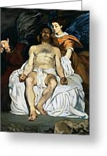 The Dead Christ And Angels Greeting Card by Edouard Manet