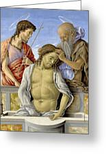 The Dead Christ Supported By Saints Greeting Card