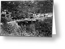 The Deadwood Coach, 1889 Greeting Card