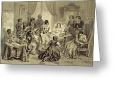 The Death Of Evangeline, Plate 6 Greeting Card