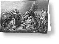 The Death Of General Wolfe, 1759, From The History Of The United States, Vol. I, By Charles Mackay Greeting Card