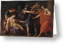 The Death Of Lucretia Greeting Card